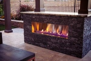 Outside Living Space Fire Place